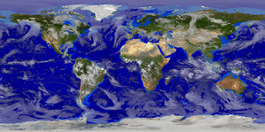 Global Weather Satellite Image