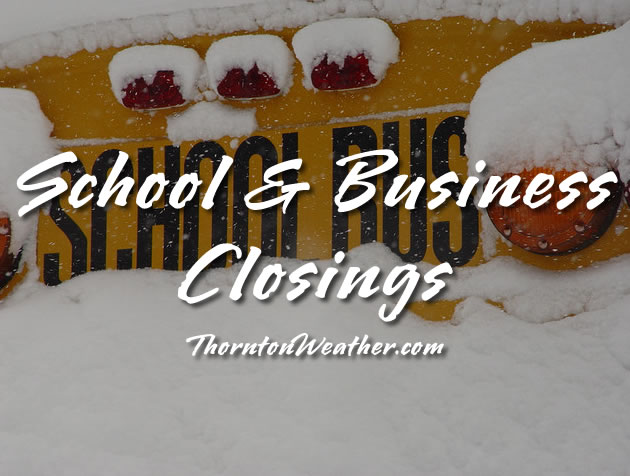 School and Business Closings in Denver, Colorado